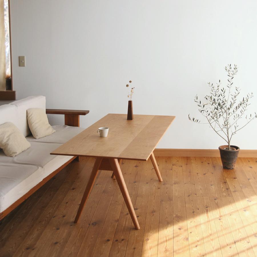 家具工房クラポ・オーダーリビングテーブル(140×70 高さ60cm) チェリー