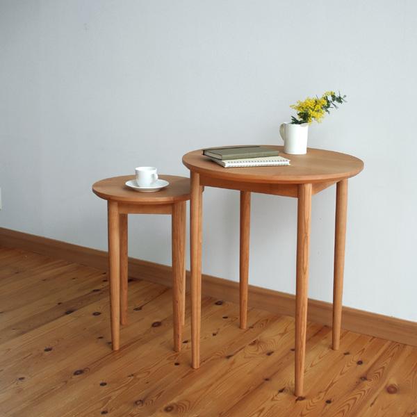 家具工房クラポ・サイドテーブル5268・小さな丸テーブル(丸脚4本)サイズオーダー